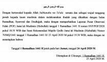 Penetapan 1 Ramadhan 1441 H