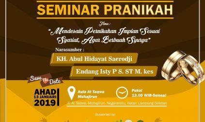 Seminar Pra-Nikah Syubban Lampung