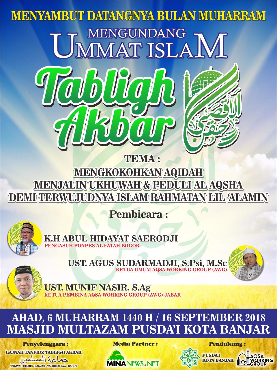 Tabligh Akbar Sambut Muharram 1440 di Banjar Jawa Barat
