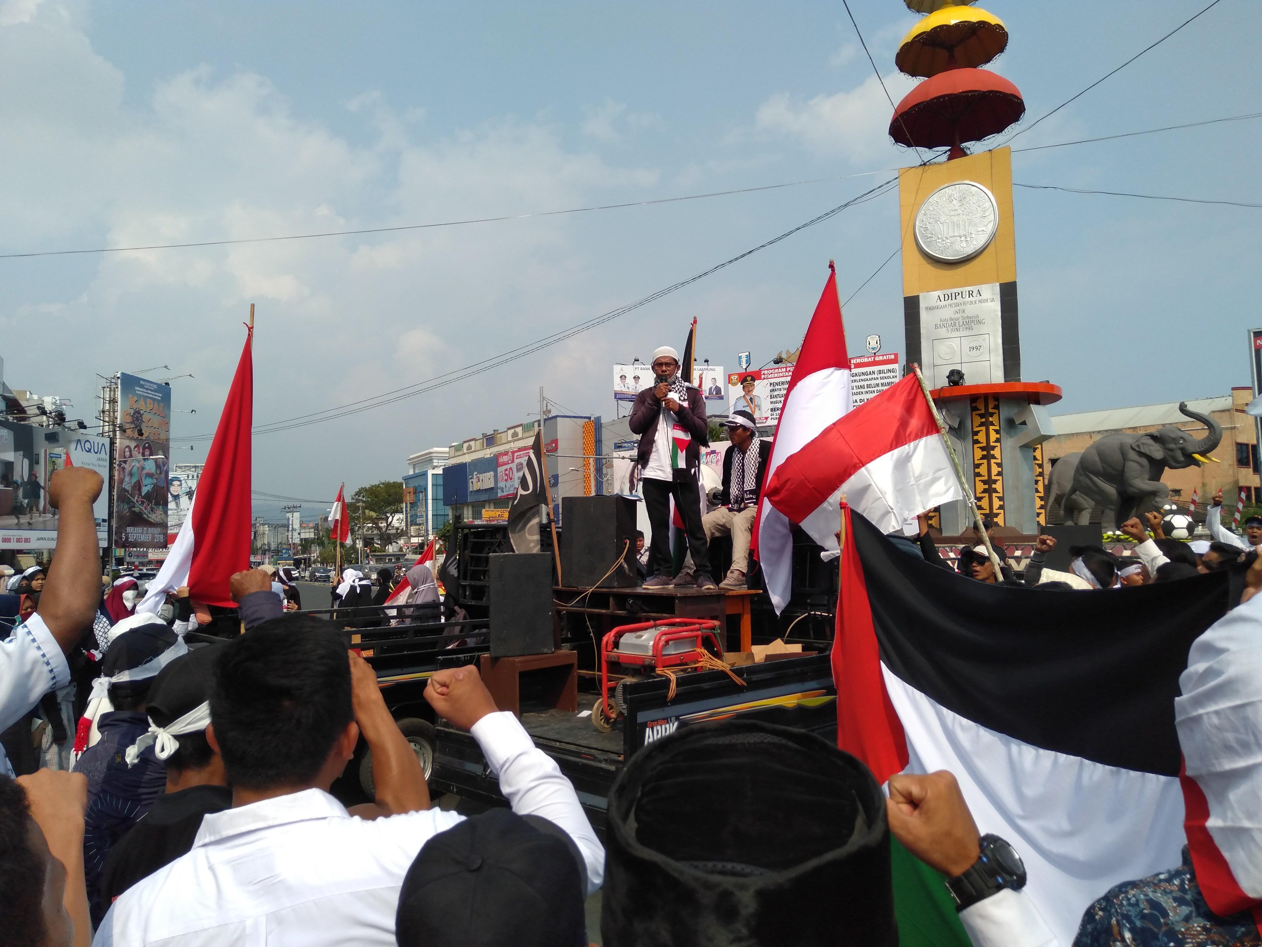 Syubban Jama'ah Muslimin (Hizbullah) dan AWG Lampung Gelar Aksi Al-Aqsa Haqqunaa