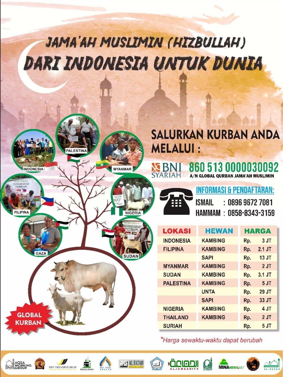 Jama'ah Muslimin (Hizbullah) Selenggarakan Program Global Qurban 1442 H